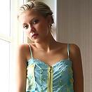 Blonde slim euro teen in natural light topless