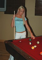 Dream Kelly pool table pussy tickle
