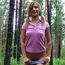 Sexy little teen Wendi playing naked in the forest