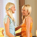 Hanna and Felicity - Innocent blonde teens lap and dildo