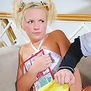 Upskirt teen runs into trouble