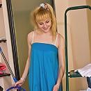 Blonde teen sweetie pleasing two hard cocks